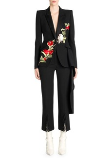 Alexander McQueen Embroidered Drape Jacket