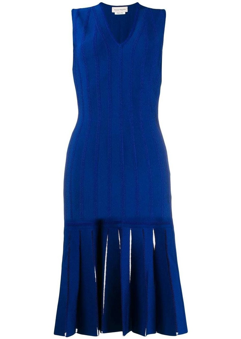 Alexander McQueen embroidered knit midi dress