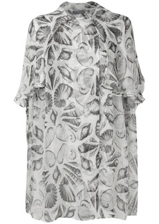 Alexander McQueen embroidered oversized blouse