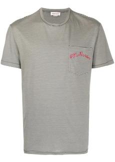 Alexander McQueen embroidered striped T-shirt