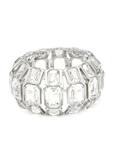 Alexander McQueen Emerald-Cut Swarovski Jeweled Hinged Bangle