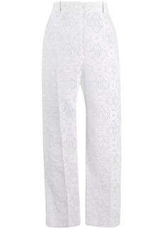 Alexander McQueen Endangered flower lace cigarette trousers