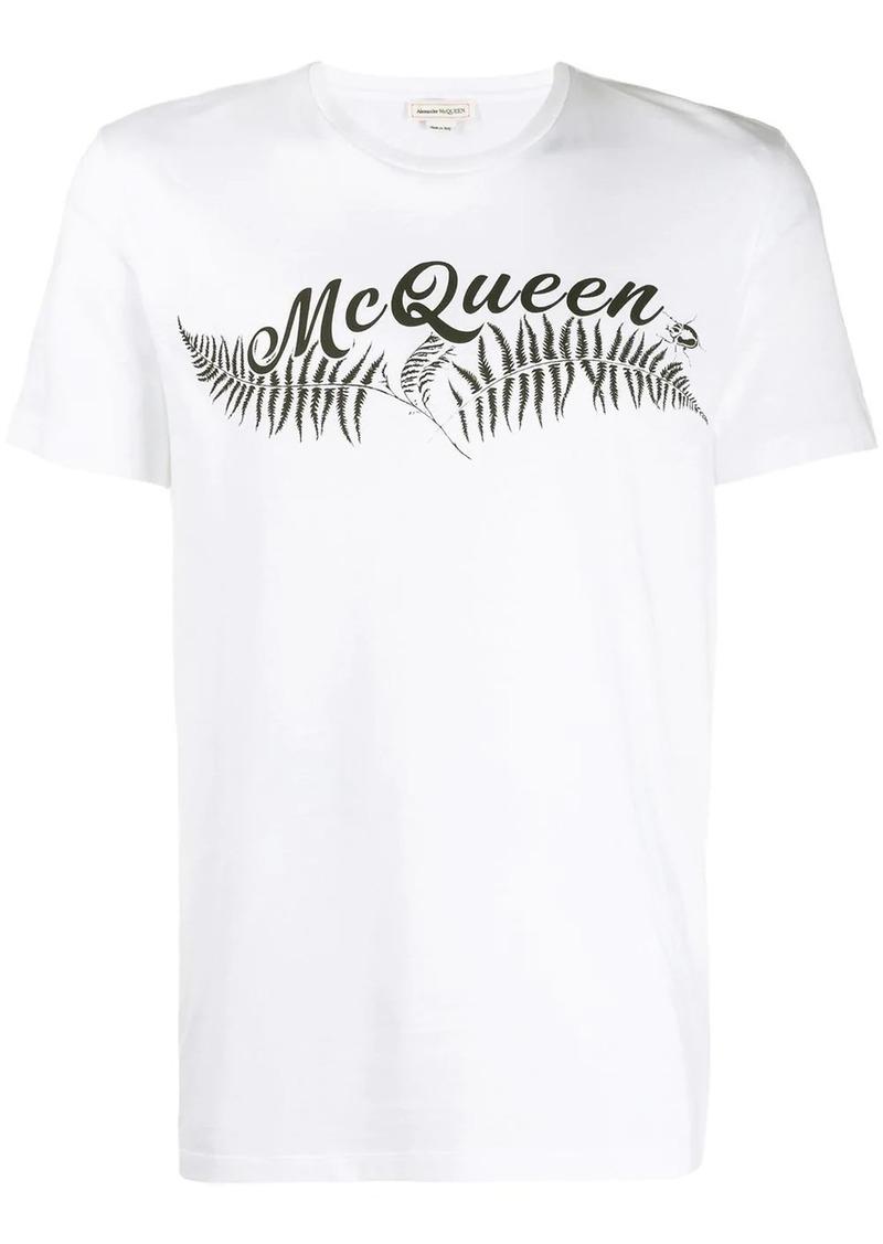 Alexander McQueen fern print T-shirt