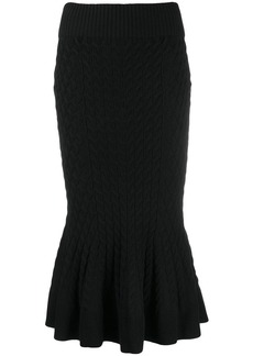 Alexander McQueen flared hem knitted skirt