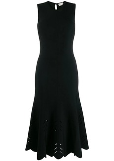 Alexander McQueen flared hem midi dress