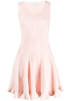 Alexander McQueen flared knit dress