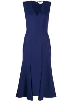 Alexander McQueen flared mi-length dress