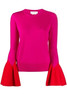 Alexander McQueen flared-sleeve knit jumper