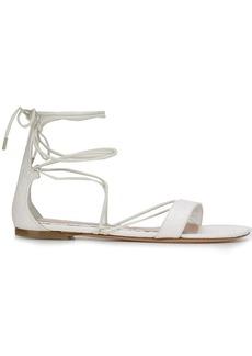 Alexander McQueen flat tie-ankle sandals