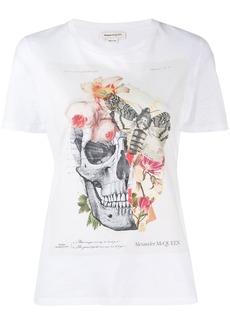 Alexander McQueen flora and skull print T-shirt