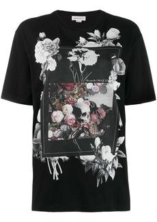 Alexander McQueen floral box scene T-shirt