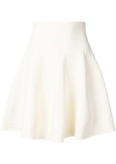 Alexander McQueen floral embossed skirt