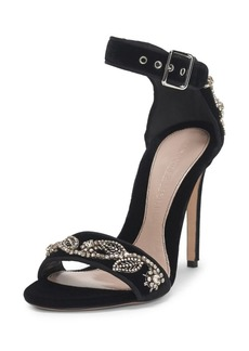 Alexander McQueen Floral-Embroidered Ankle-Strap Sandals
