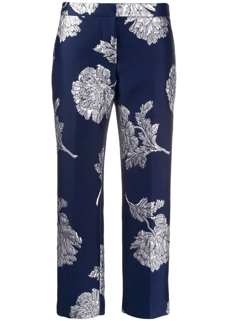 Alexander McQueen floral-embroidered trousers