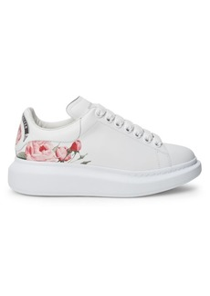 Alexander McQueen Floral Leather Platform Sneakers