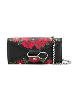 Alexander McQueen floral pin chain wallet