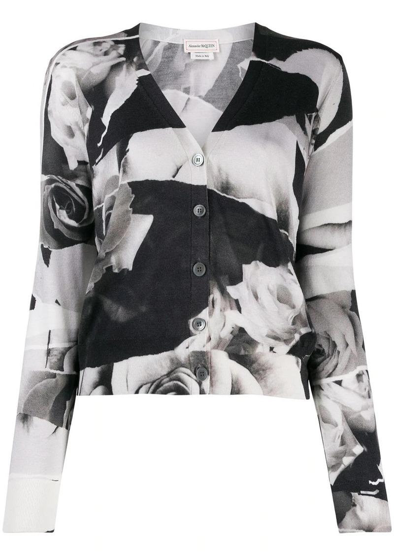 Alexander McQueen floral print cardigan