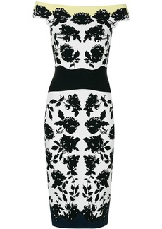 Alexander McQueen floral print fitted dress