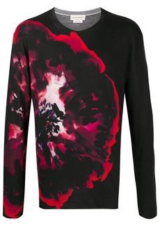 Alexander McQueen floral print jumper