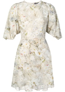 Alexander McQueen floral print mini dress
