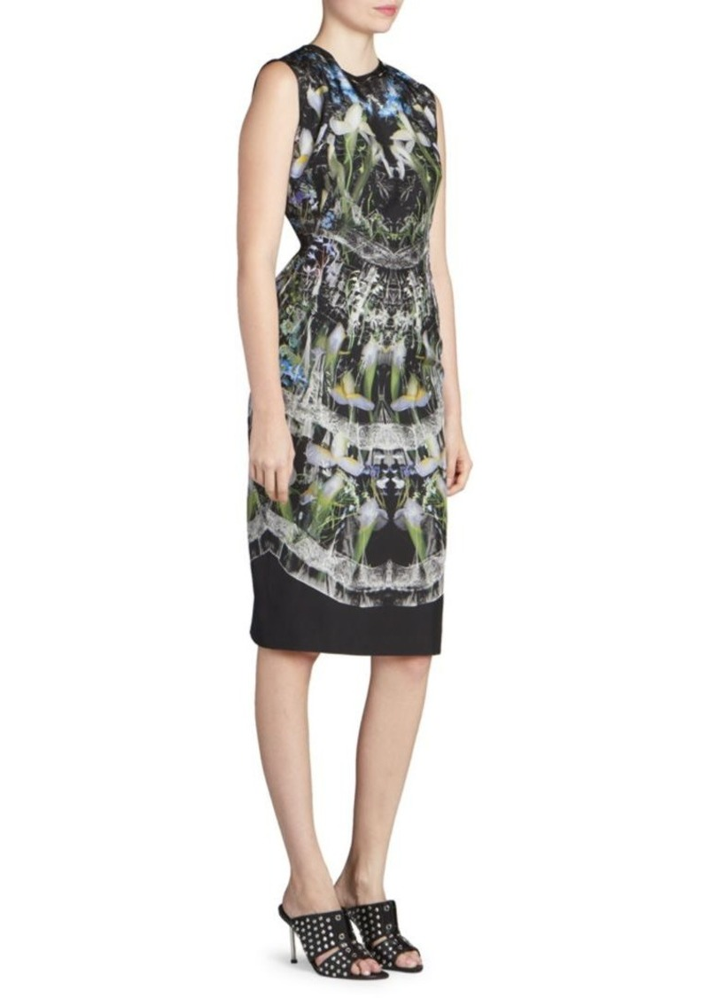 Alexander McQueen Ophelia Print Silk Sheath Dress