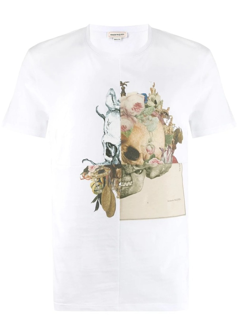 Alexander McQueen floral skull T-shirt