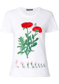 Alexander McQueen flower embroidered T-shirt