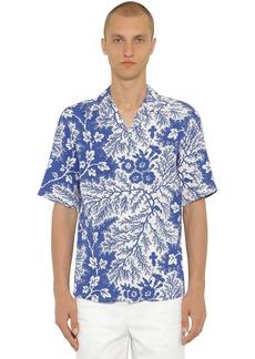 Alexander McQueen Flower Print Viscose Bowling Shirt