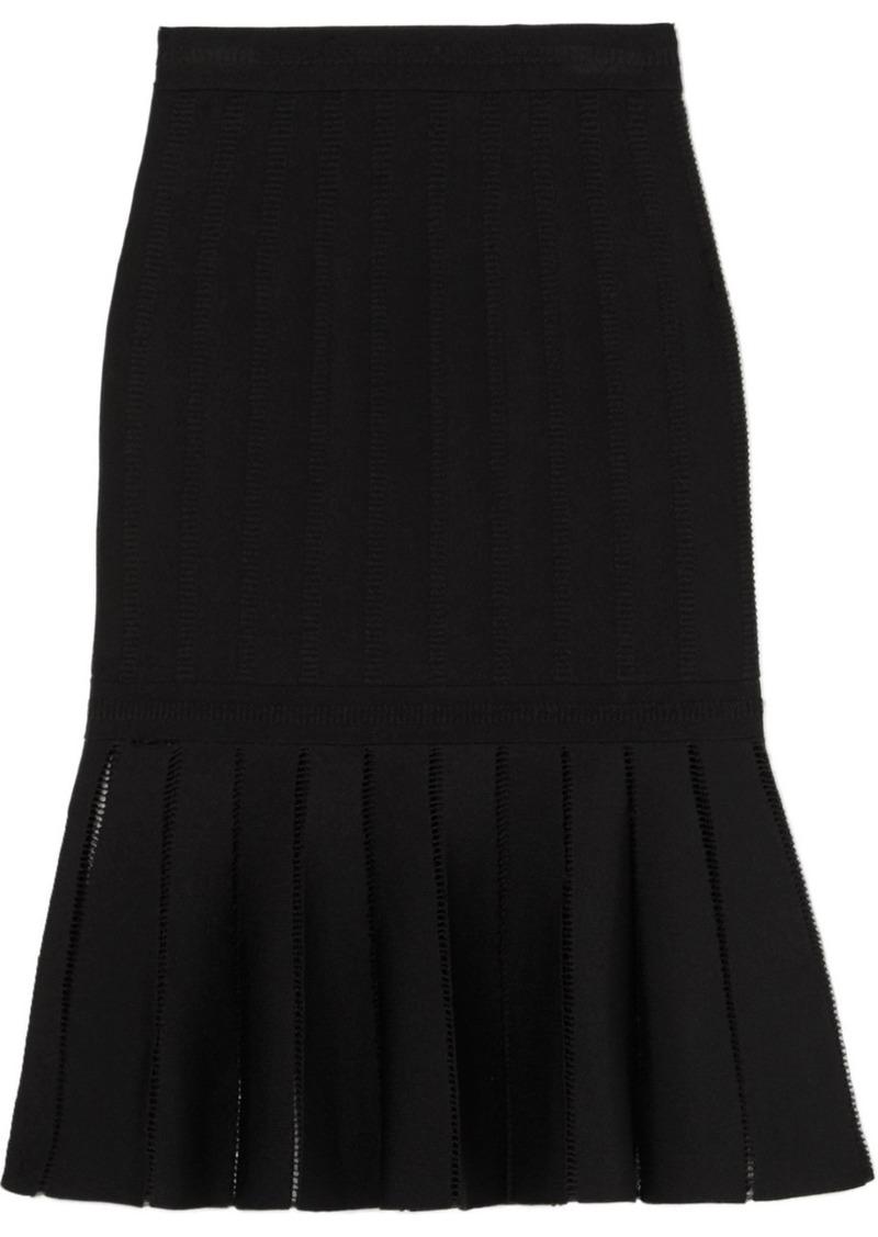Alexander McQueen Fluted Knitted Skirt