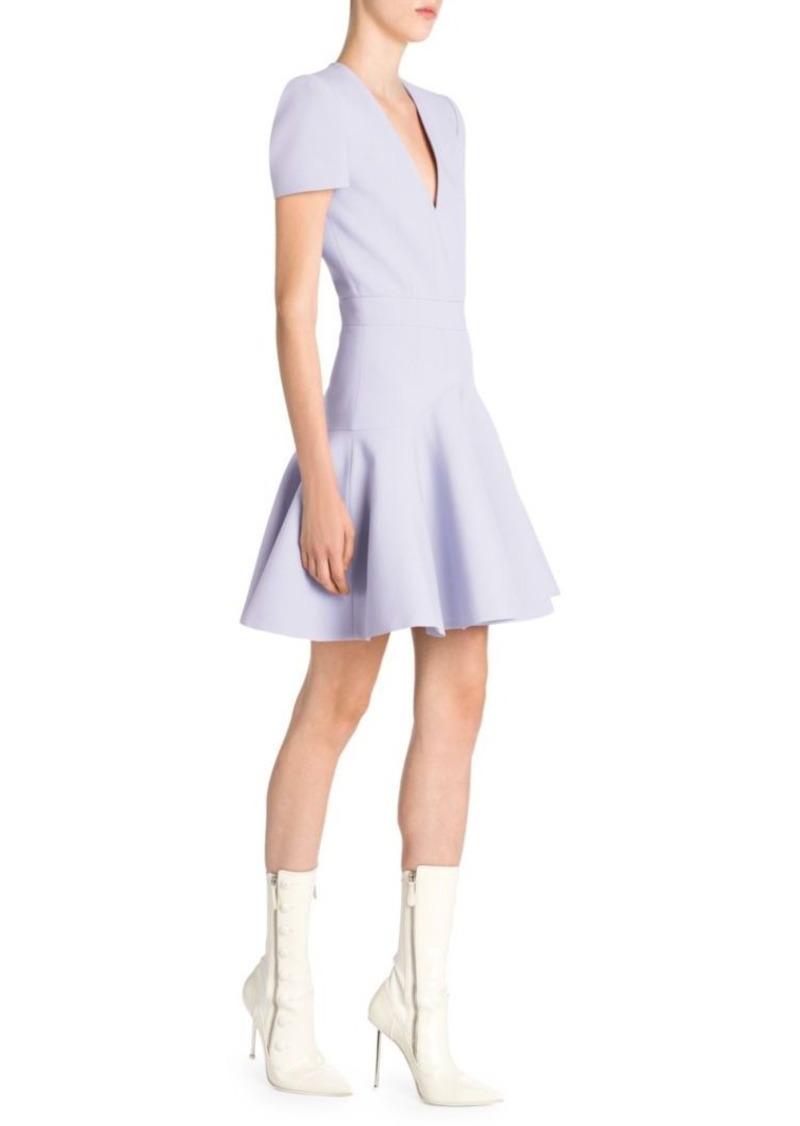 Alexander McQueen Fluted Mini Dress