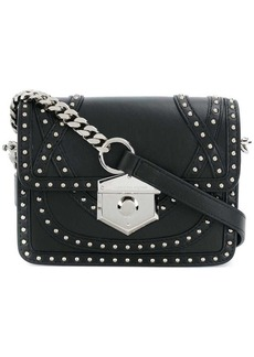 Alexander McQueen foldover studded shoulder bag