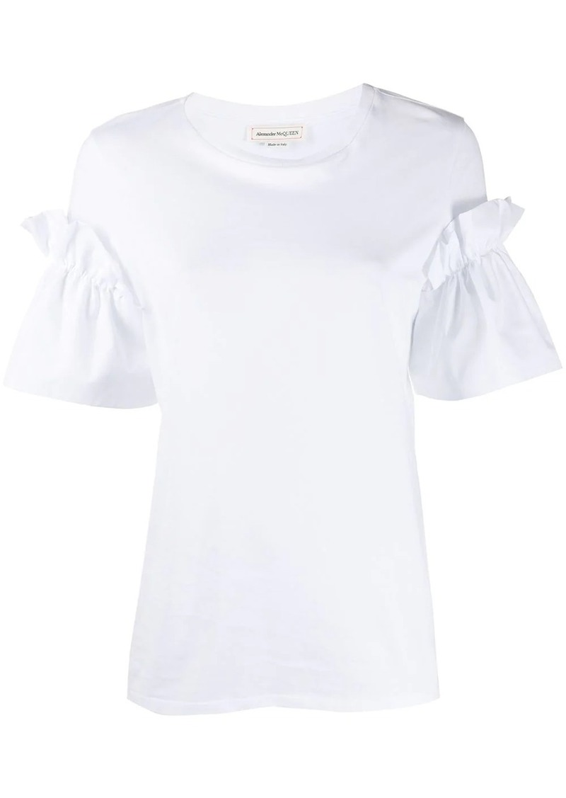 Alexander McQueen frilled short-sleeved T-shirts