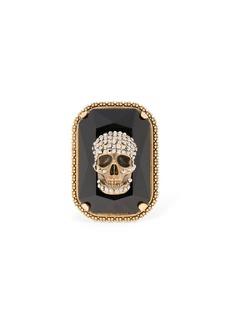 Alexander McQueen Gemstone Skull Ring