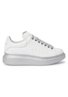Alexander McQueen Glitter Leather Platform Sneakers