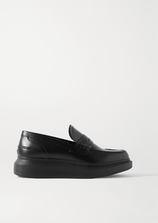 Alexander McQueen Glossed-leather Exaggerated-sole Loafers