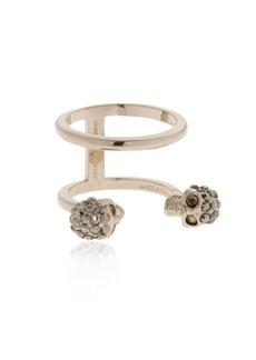 Alexander McQueen Gold Double Skulls Stacked Ring