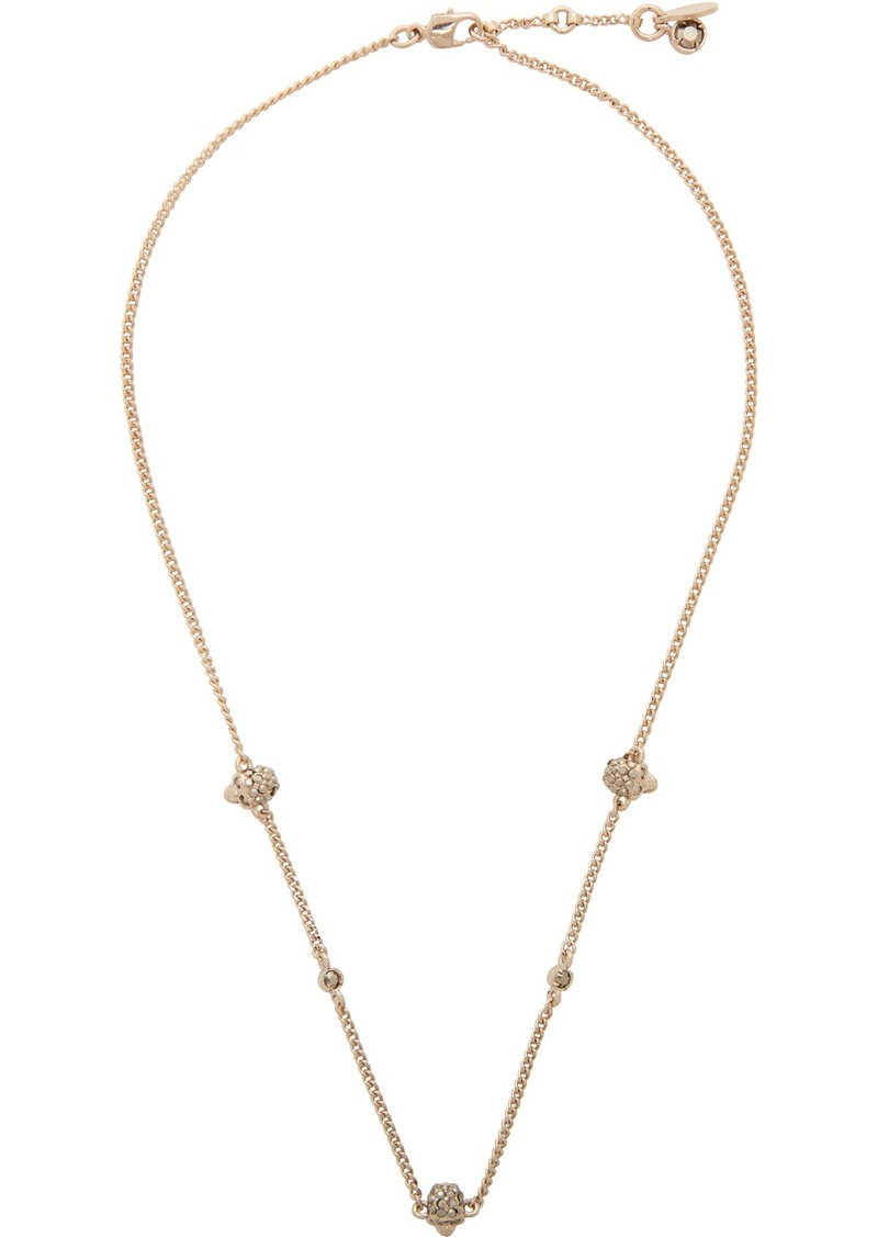 Alexander McQueen Gold Short Chain Necklace