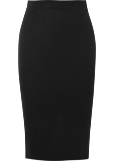 Alexander McQueen Grain De Poudre Wool Pencil Skirt