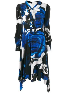 Alexander McQueen graphic print draped dress