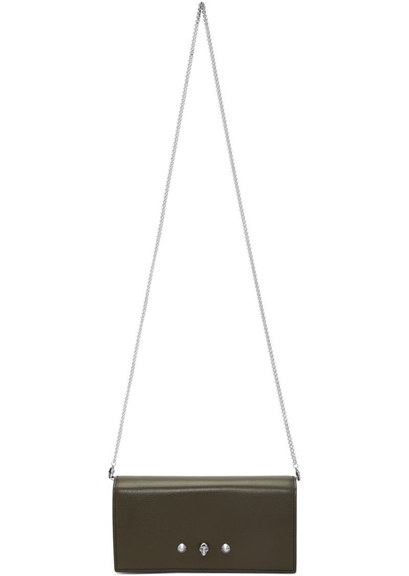 Alexander McQueen Green Wallet On Chain Bag
