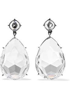 Alexander McQueen Gunmetal-tone Crystal Clip Earrings