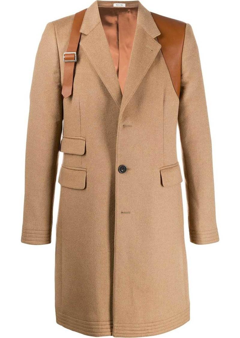 Alexander McQueen harness single-breasted coat