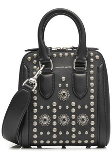 Alexander McQueen Heroine Mini Embellished Leather Tote
