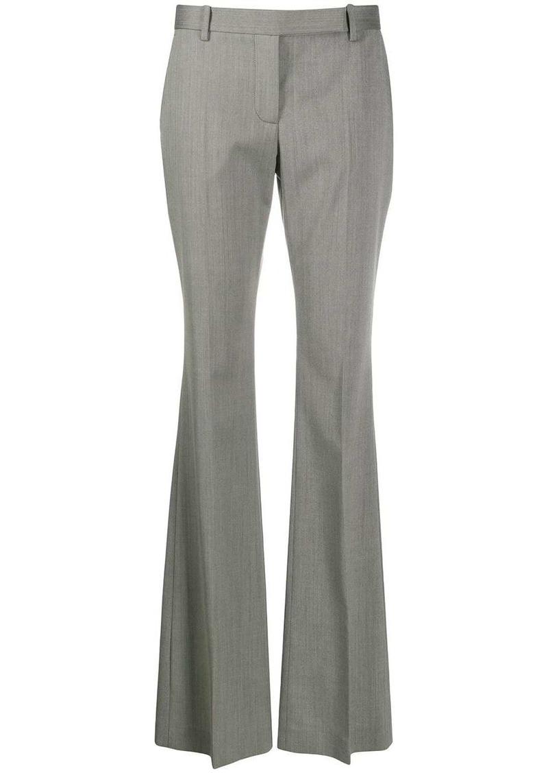 Alexander McQueen herringbone print flared trousers
