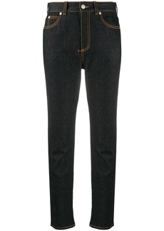 Alexander McQueen High-rise cropped denim jeans