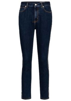 Alexander McQueen High-rise slim cropped jeans