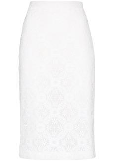 Alexander McQueen high-waist lace pencil skirt