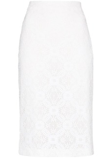 Alexander McQueen high-waist lace pencil skirt
