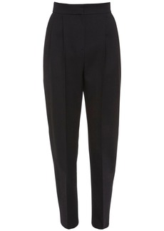Alexander McQueen High Waist Light Wool & Silk Pants