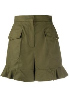 Alexander McQueen high-waisted ruffle hem shorts